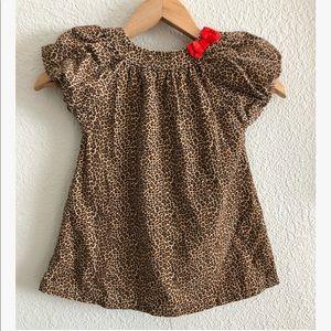 Carters corduroy leopard print dress sz: 3T